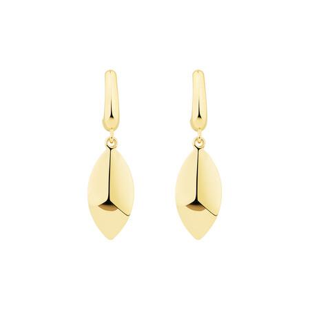 Drop Stud Earrings in 10kt Yellow Gold