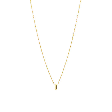 """""""I"""" Initial Necklace in 10kt Yellow Gold"""