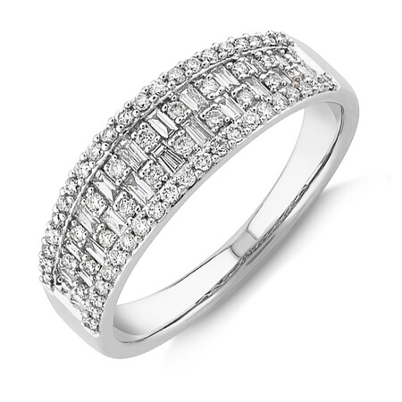 Multi Row Ring with 0.50 Carat TW Diamond in 10kt Yellow Gold