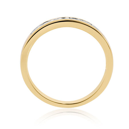 Wedding Band with 0.15 Carat TW of Diamonds in 10kt Yellow Gold