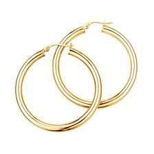 35mm Hoop Earrings in 10kt Yellow Gold