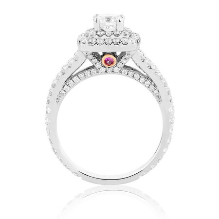 Sir Michael Hill Designer GrandArpeggio Engagement Ring with 1.45 Carat TW of Diamonds in 14kt White Gold