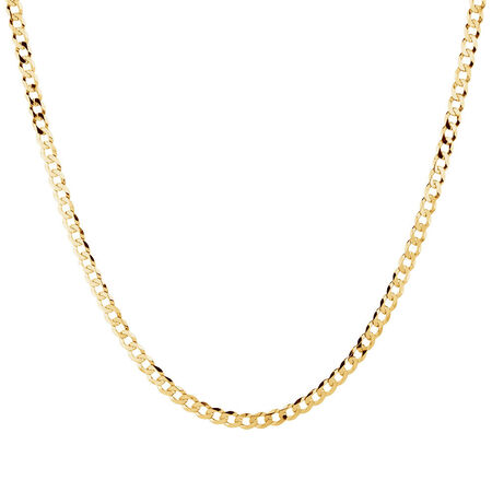 "45cm (18"") Solid Curb Chain in 10kt Yellow Gold"