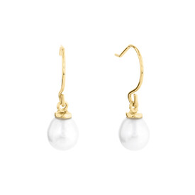 Pearl Earring in 10kt Yellow Gold