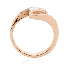 Southern Star Ring with 3/8 Carat TW of Diamonds in 18kt Rose Gold