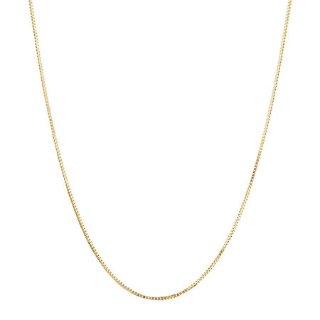 "45cm (18"") Box Chain in 18kt Yellow Gold"