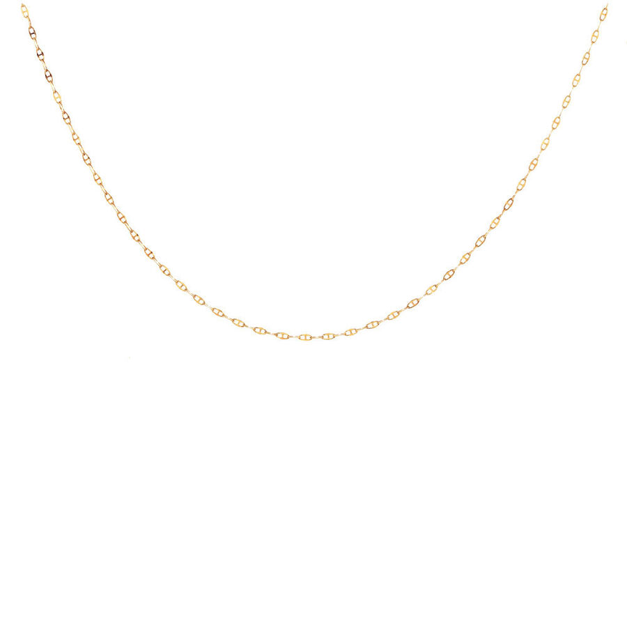 "45cm (18"") Hollow Anchor Chain in 10kt Yellow Gold"