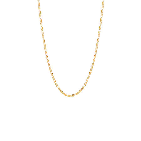"""45cm (18"""") Solid Fancy Chain in 10kt Yellow, White & Rose Gold"""