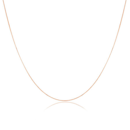 "45cm (18"") Box Chain in 10kt Rose Gold"