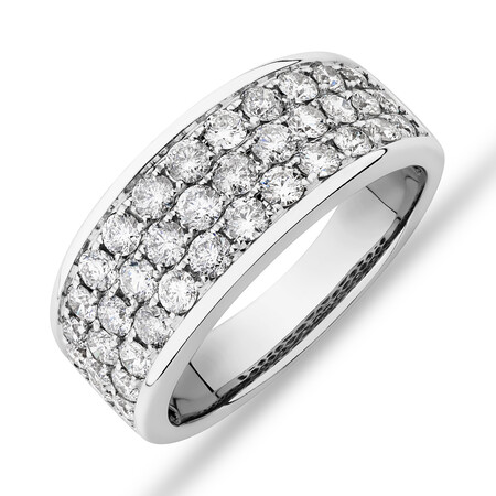 Men's Pave Ring with 2.00 Carat TW of Diamonds in 10kt White Gold