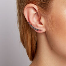 Patterned Ear Climbers in Sterling Silver