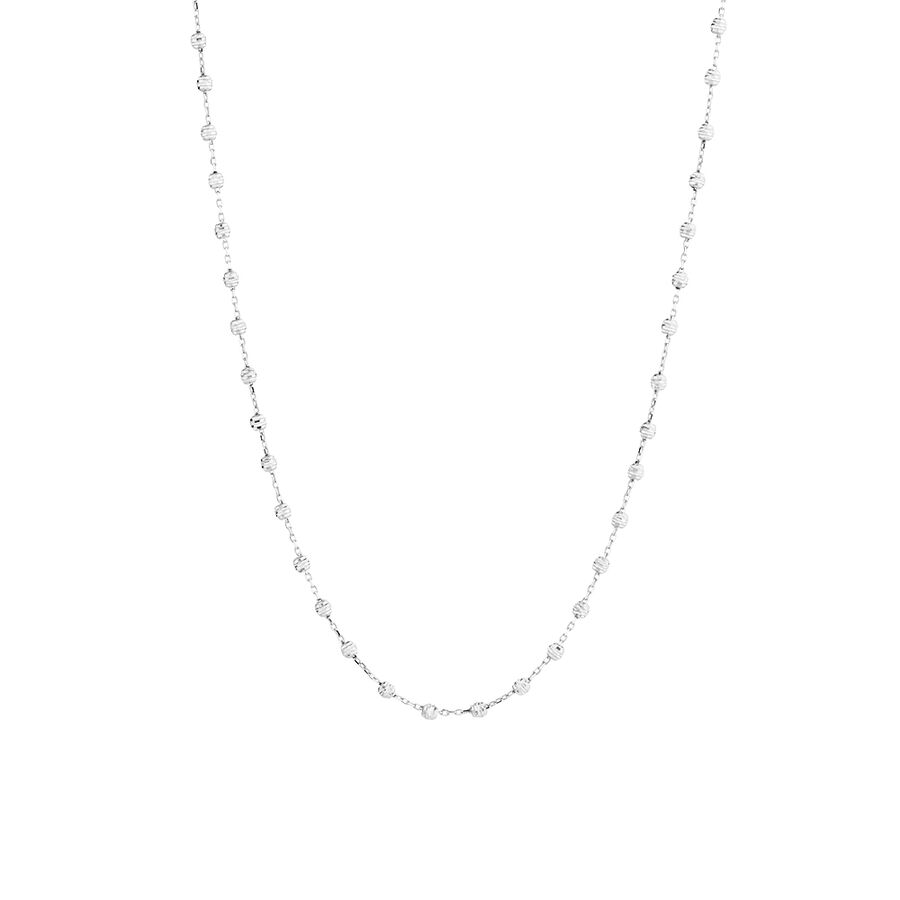 "45cm (18"") Fancy Chain in 10ct White Gold"