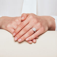 Bridal Set with 1.15 Carat TW of Diamonds in 14kt White Gold
