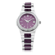 Ladies' Watch with Cubic Zirconia in Stainless Steel