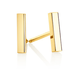 Bar Stud Earrings in 10kt Yellow Gold