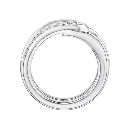 Mark Hill Wishbone Necklace with 0.16 Carat TW of Diamonds in Sterling Silver