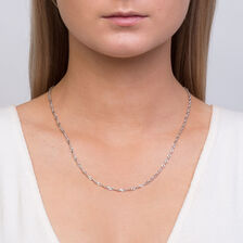 """50cm (20"""") Singapore Chain in 10kt White Gold"""