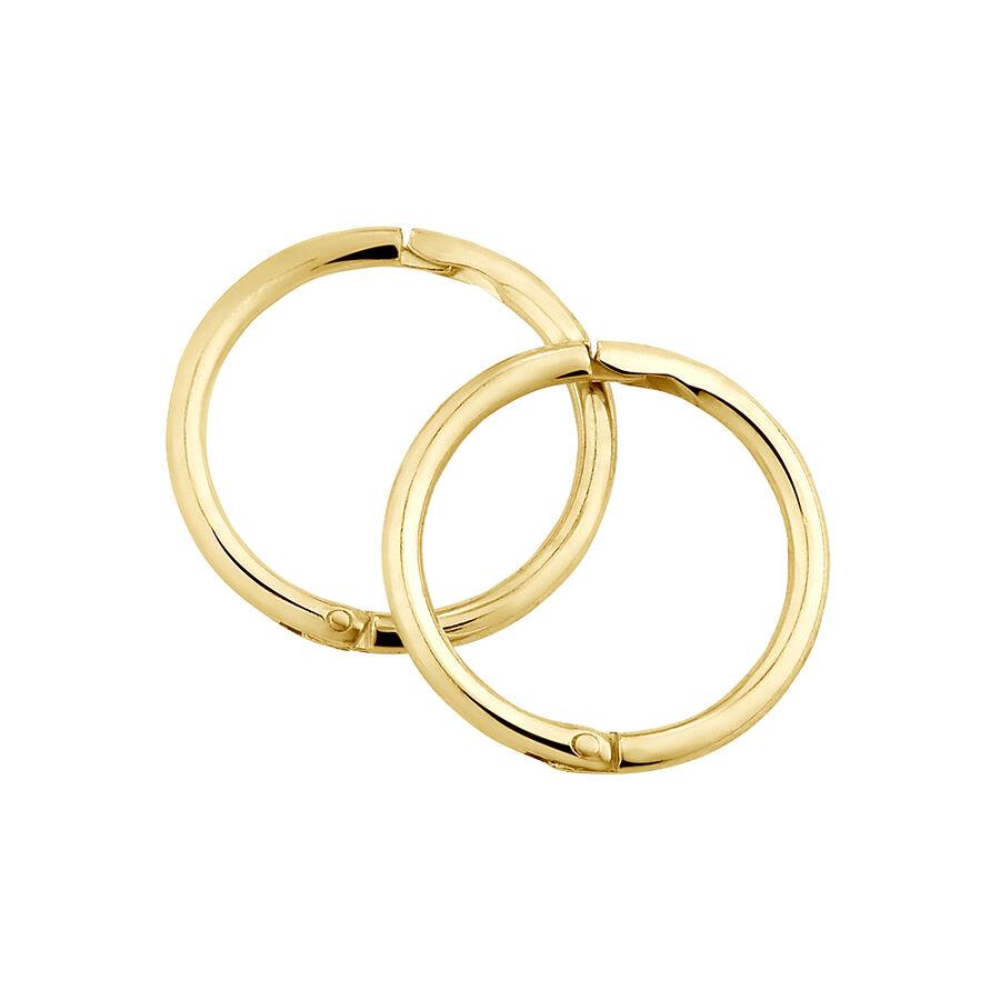 8mm Plain Sleeper Earrings in 10kt Yellow Gold
