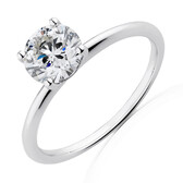 Lab Created 1.50 Carat Diamond Ring in 14kt White Gold