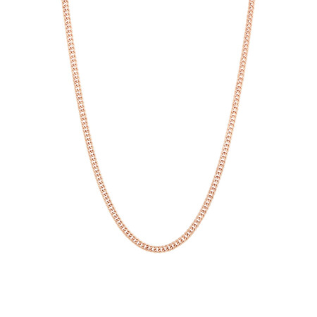 "45cm (18"") Curb Chain in 10kt Rose Gold"