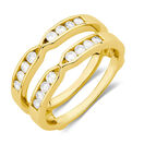 Enhancer Ring with 1/4 Carat TW of Diamonds in 10kt Yellow Gold