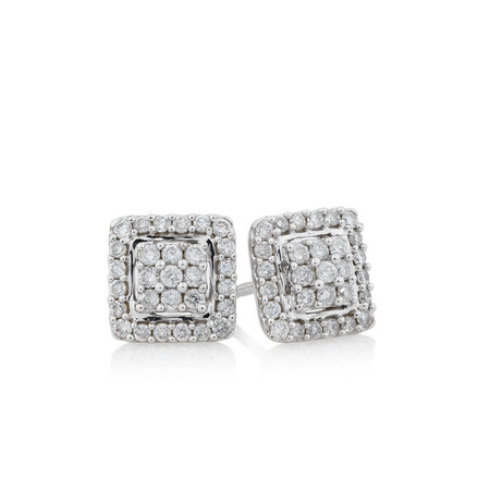 Online Exclusive - Stud Earrings with 1/3 Carat TW of Diamonds in 10kt White Gold