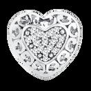 Diamond Set Filigree Heart Charm