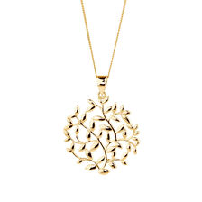 Olive Leaf Pendant in 10kt Yellow Gold