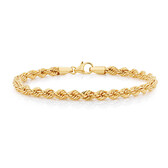 "17cm (6.5"") Rope Bracelet in 10kt Yellow Gold"