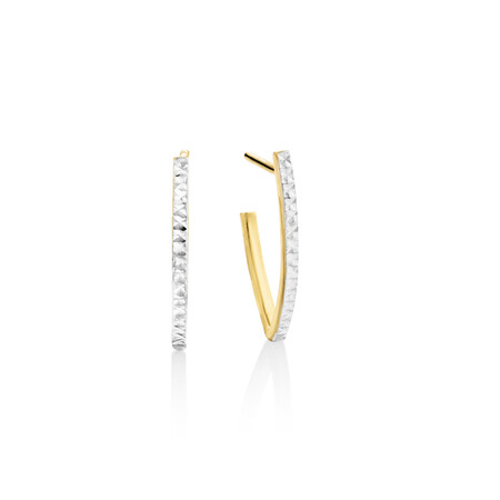 Stud Earrings In 10kt Yellow And White Gold