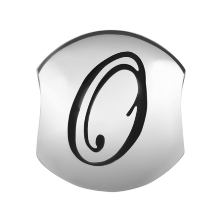 Sterling Silver 'O' Charm