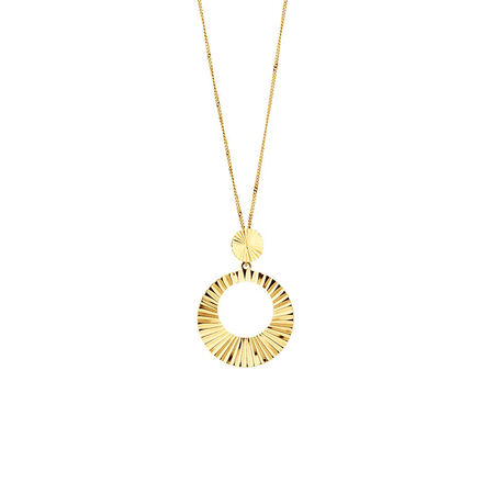 Circle Drop Pendant in 10kt Yellow Gold