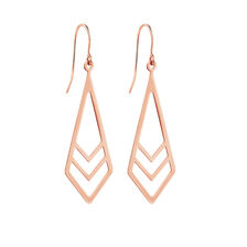 Geometric Drop Earrings in 10kt Rose Gold