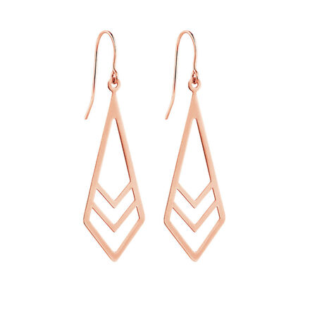 Geometric Drop Earrings in 10kt Rose Gold