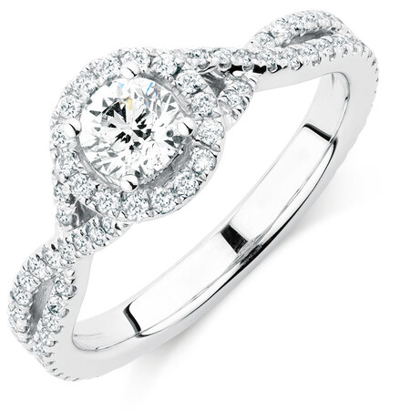 Sir Michael Hill Designer GrandAdagio Engagement Ring with 1.05 Carat TW of Diamonds in 14kt White Gold