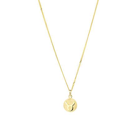 Taurus Zodiac Pendant in 10kt Yellow Gold