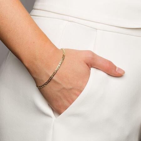 "19cm (7.5"") Anchor Link Bracelet in 10kt Yellow Gold"