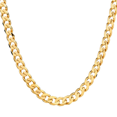 """60cm (24"""") Curb Chain in 10kt Yellow Gold"""