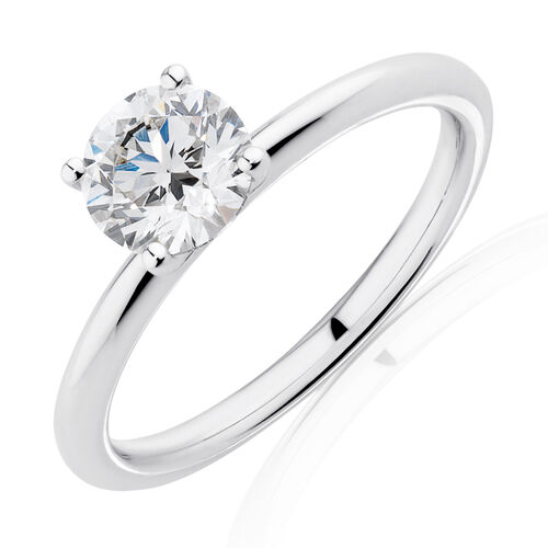 Laboratory-Created 1 Carat Diamond Ring in 14kt White Gold