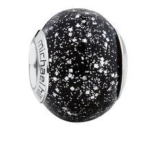 Black Sparkle Murano Glass Charm