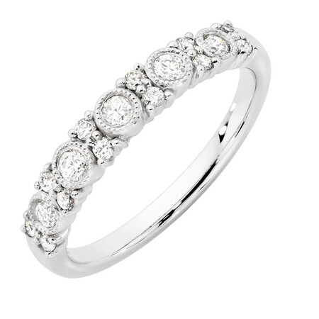 Wedding Band with 1/3 Carat TW of Diamonds in 10kt White Gold