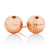 7mm Patterned Stud Earrings in 10ct Rose Gold