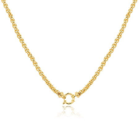 "45cm (18"") Hollow Wheat Chain in 10kt Yellow Gold"