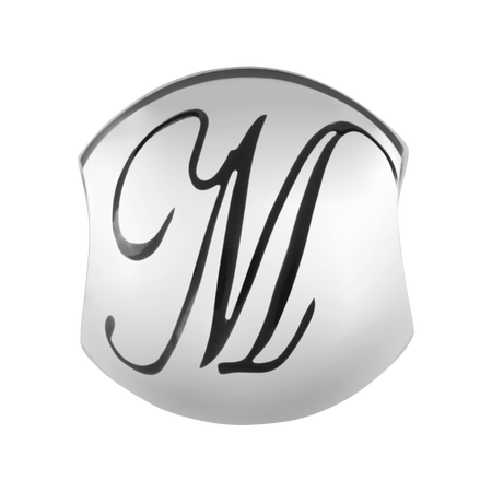 Sterling Silver 'M' Charm