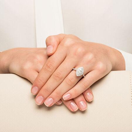 Sir Michael Hill Designer GrandArpeggio Engagement Ring with 1.21 Carat TW of Diamonds in 14kt White Gold