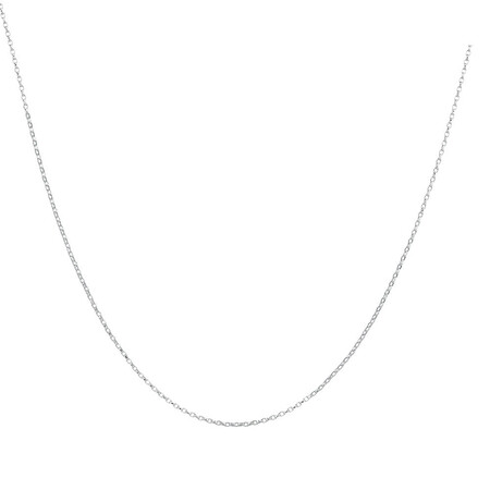 "40cm (16"") Rolo Chain in 10kt White Gold"