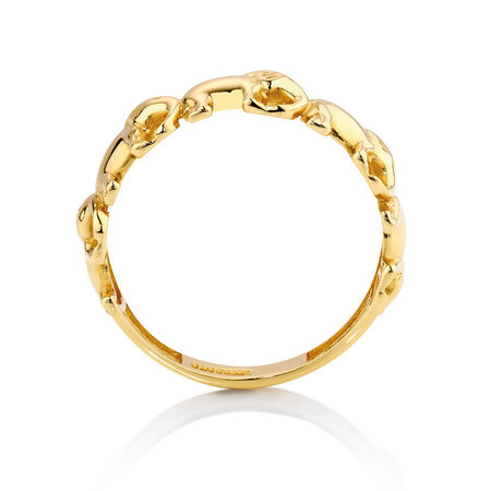 Elephant Ring in 10kt Yellow Gold