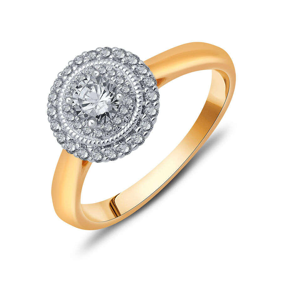 Ring with 0.52 Carat TW of Diamonds in 10kt Yellow & White Gold