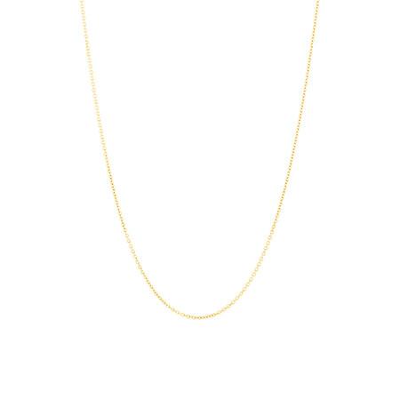 """45cm (18"""") Belcher Chain in 10kt Yellow Gold"""