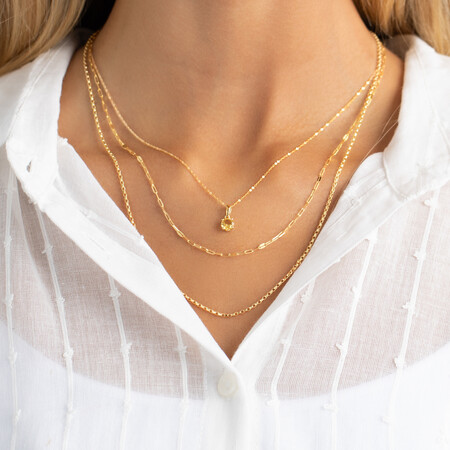 50cm Oval Mirror Cable Chain in 10kt Yellow Gold